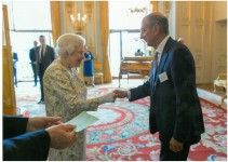 David Dangoor with HM The Queen, 25.6.2019